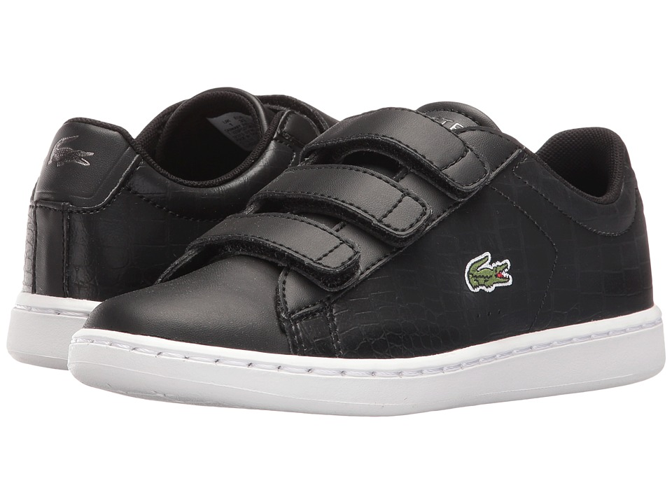 Lacoste Kids Carnaby Evo Gsp 2 (Little Kid) (Black/Black) Kid
