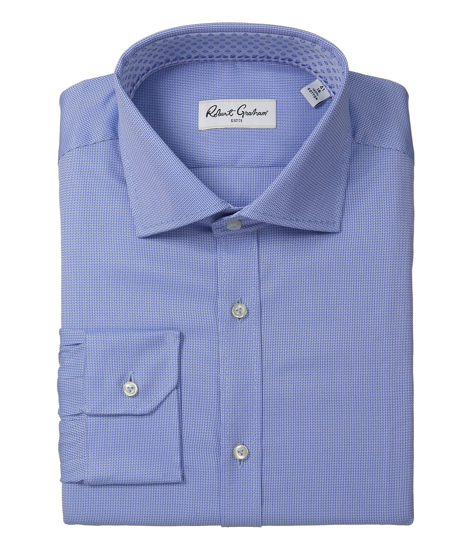 Robert Graham - Fancy Dress Shirt (Blue) Mens Long Sleeve Button Up