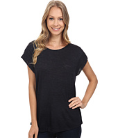 B Collection by Bobeau - Paulie Slub Knit Tee w/ Shoulder Detail