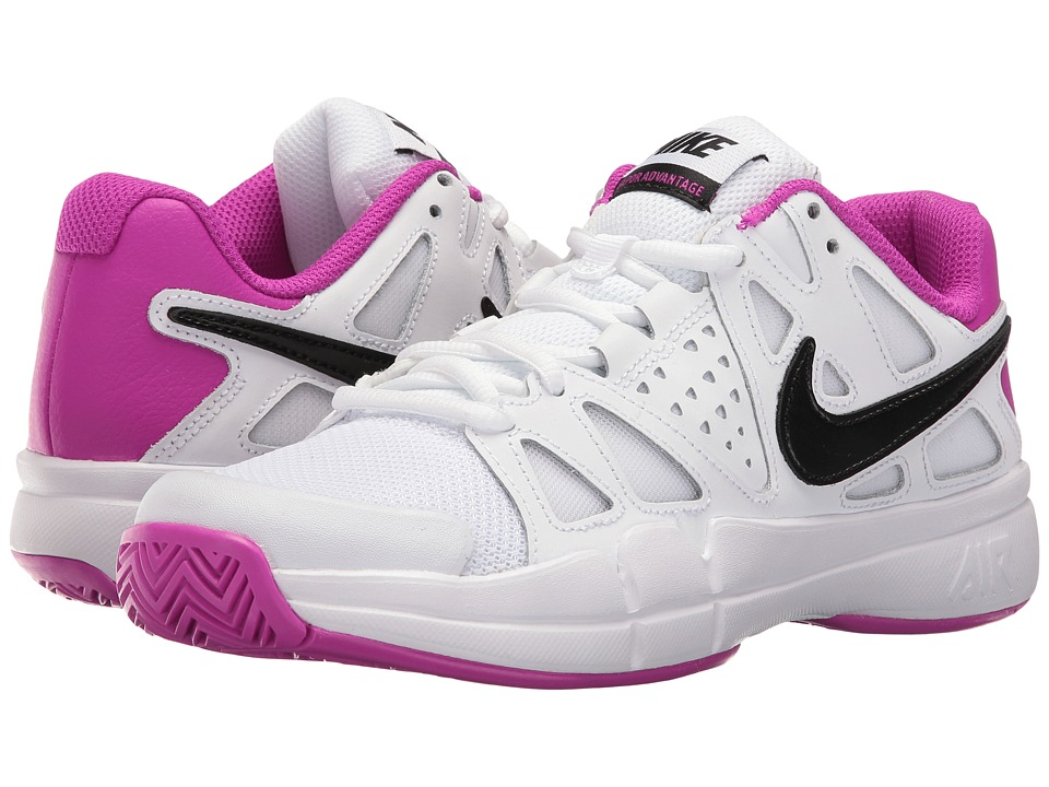 Nike - Air Vapor Advantage (White/Black-Hyper Violet) Womens Tennis Shoes