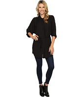 B Collection by Bobeau - Maren Lace Trim Woven Tunic