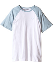 True Religion Kids - Branded Logo Raglan Tee (Big Kids)