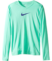 Nike Kids - Leg V-Neck Swoosh™ L/S Tee (Little Kids/Big Kids)