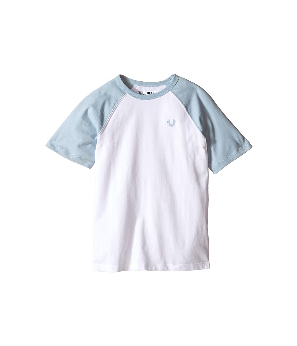 True Religion Kids - Branded Logo Raglan Tee (Toddler/Little Kids) (White) Boy