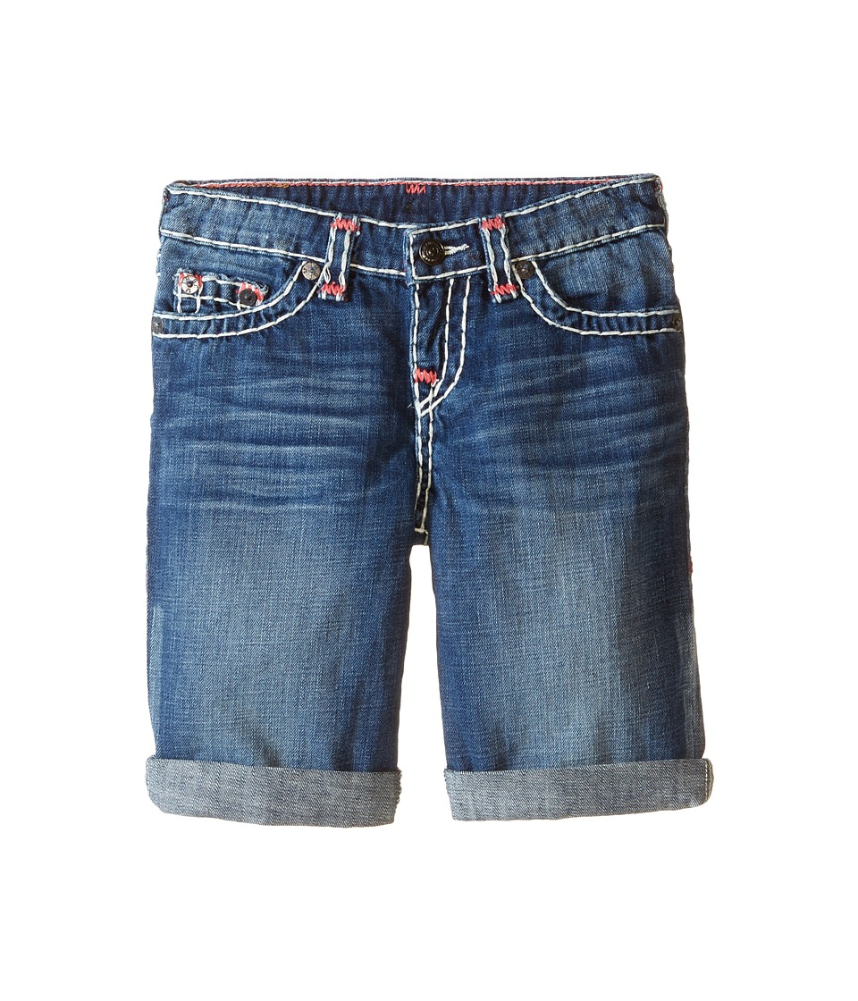 True Religion Kids Ricky Roll Up Color Combo Super T Shorts Toddler/Little Kids Vintage Blue Boys Shorts