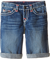 True Religion Kids - Ricky Roll Up Color Combo Super T Shorts (Toddler/Little Kids)