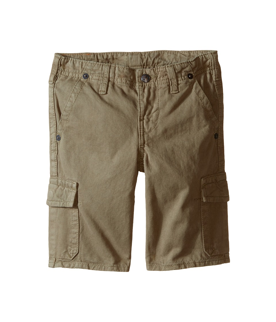 True Religion Kids Overdye Trooper Cargo Shorts Toddler/Little Kids Cactus Olive Boys Shorts