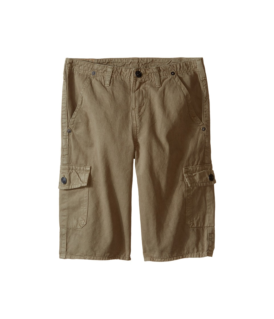 True Religion Kids Overdye Trooper Cargo Shorts Big Kids Cactus Olive Boys Shorts