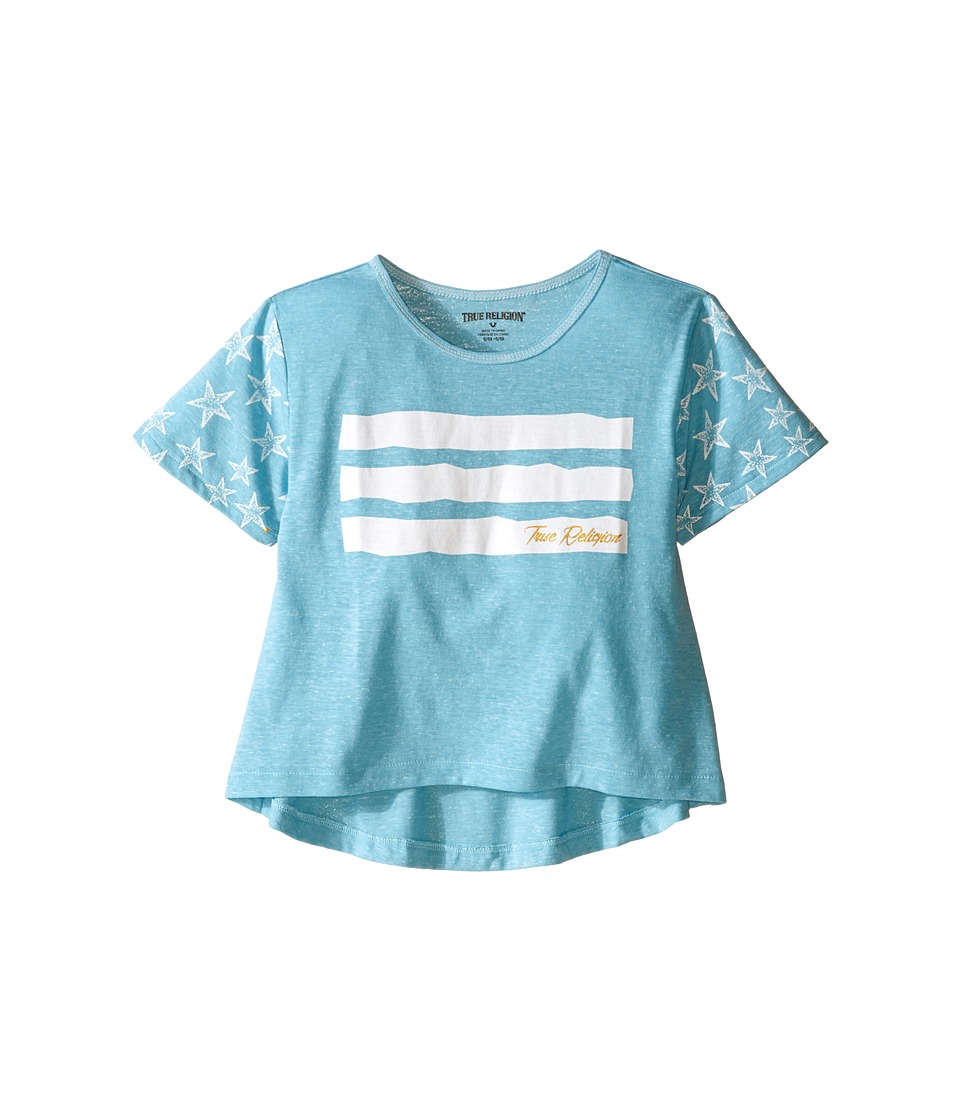 True Religion Kids Stars Stripes Drape Tee Toddler/Little Kids Mint Girls T Shirt