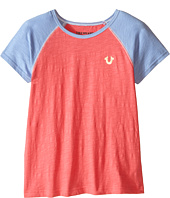 True Religion Kids - Branded Logo Color Block Tee (Little Kids/Big Kids)