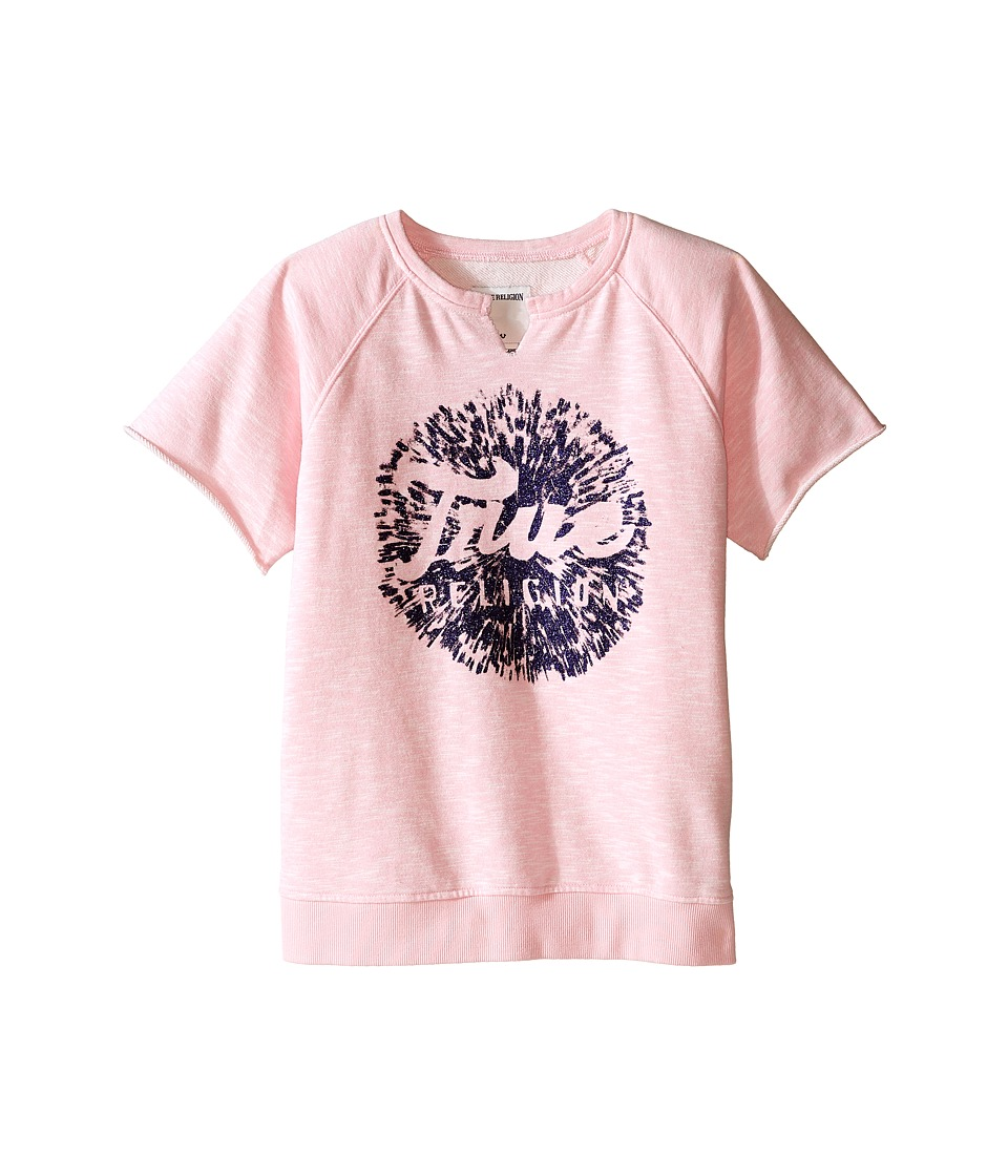 True Religion Kids Raw Edge Pullover Sweatshirt Little Kids/Big Kids After Glow Girls Sweatshirt