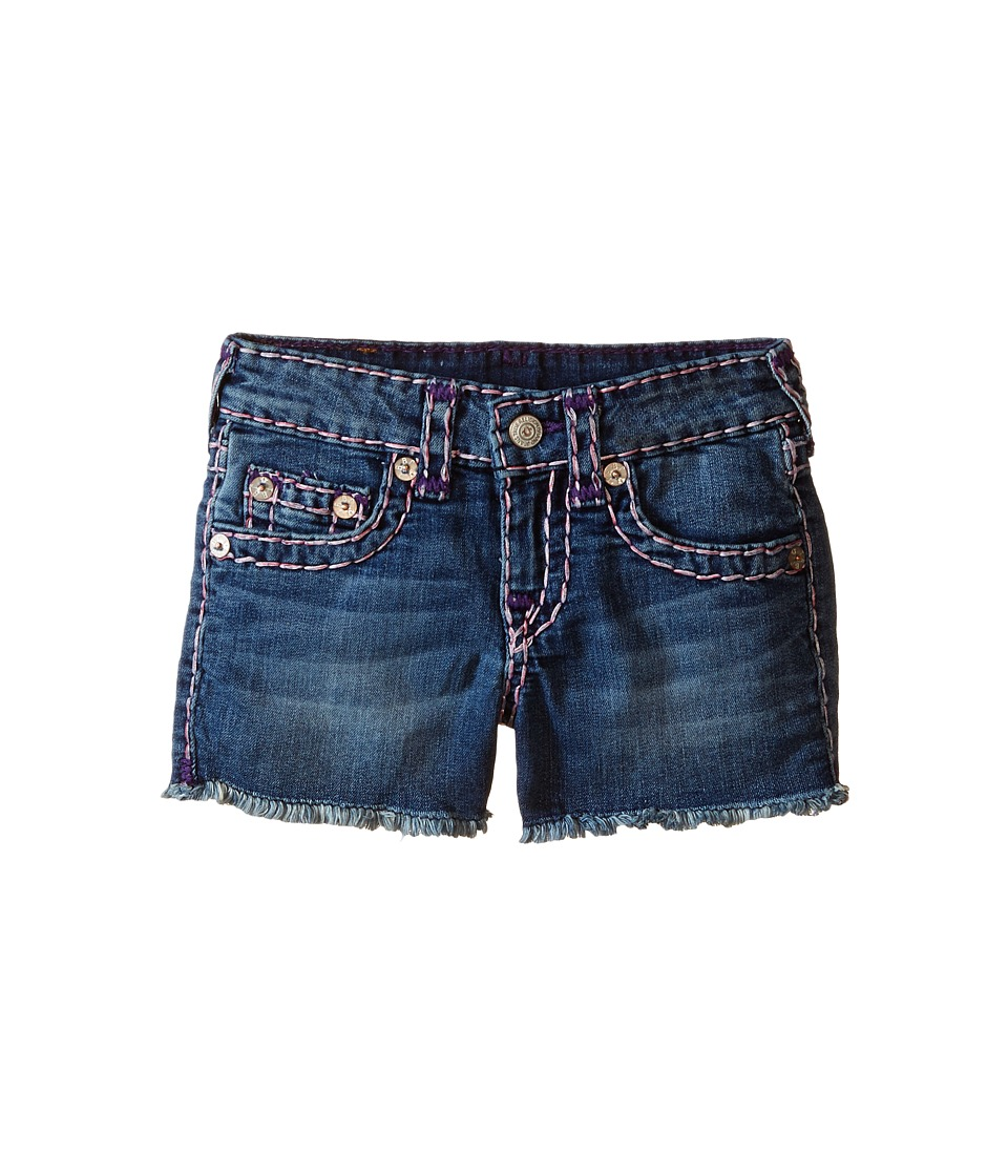 True Religion Kids Bobby Raw Edge Color Combo Super T Shorts Toddler/Little Kids Skyline Girls Shorts