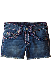 True Religion Kids - Bobby Raw Edge Color Combo Super T Shorts (Toddler/Little Kids)