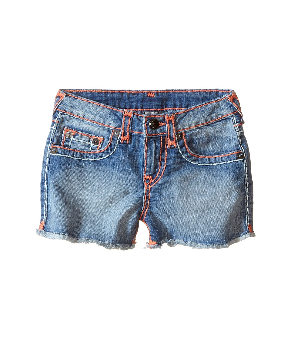 True Religion Kids Bobby Coral Mint Combo Super T Shorts Toddler/Little Kids Retro Blue Girls Shorts