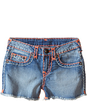 True Religion Kids - Bobby Coral & Mint Combo Super T Shorts (Toddler/Little Kids)