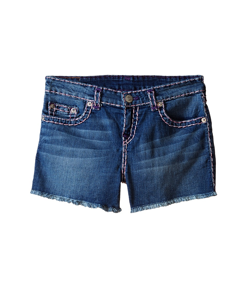 True Religion Kids Bobby Raw Edge Color Combo Super T Shorts Big Kids Skyline Girls Shorts