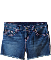 True Religion Kids - Bobby Raw Edge Color Combo Super T Shorts (Big Kids)