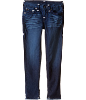 True Religion Kids - Casey Raw Edge Midnight Super T Jeans in Jet Blue (Toddler/Little Kids)