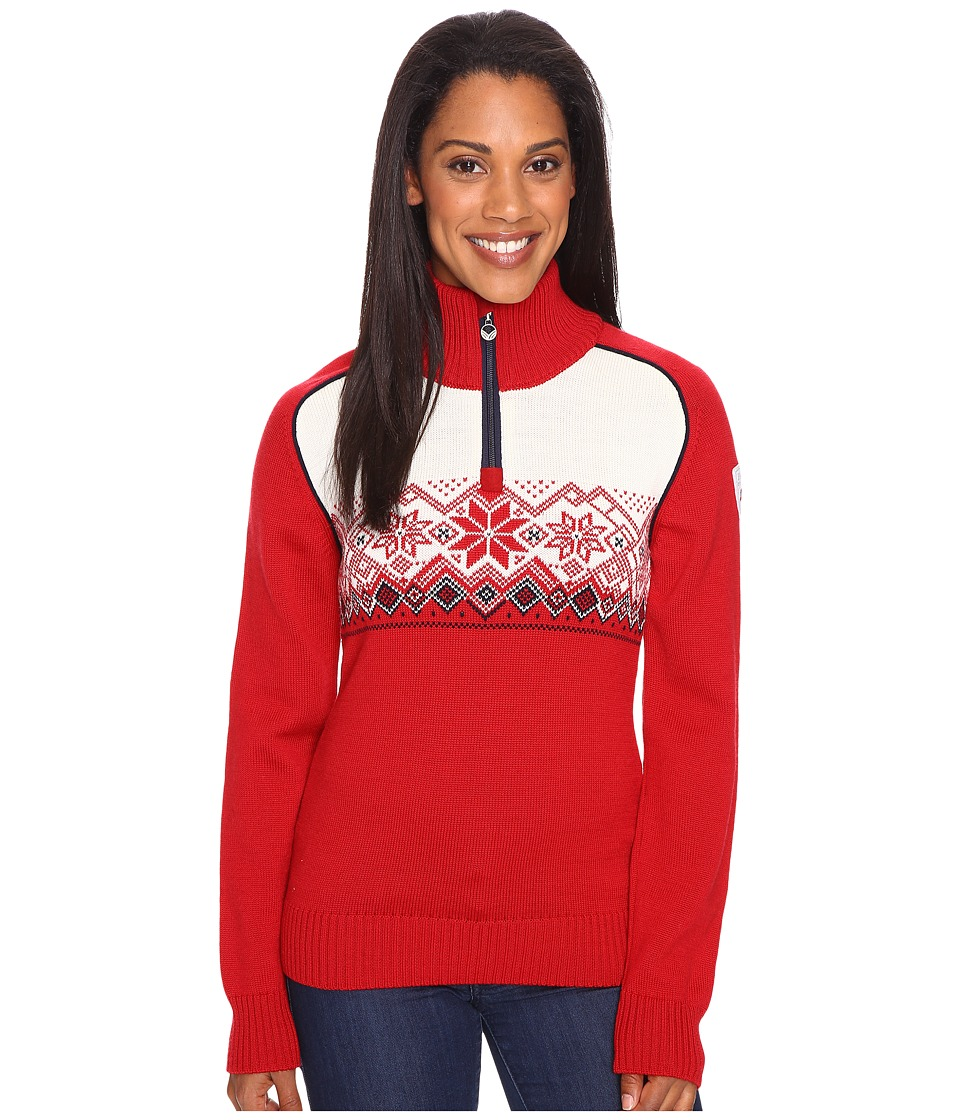 Dale of Norway Frostisen Sweater (Raspberry/Navy) Women