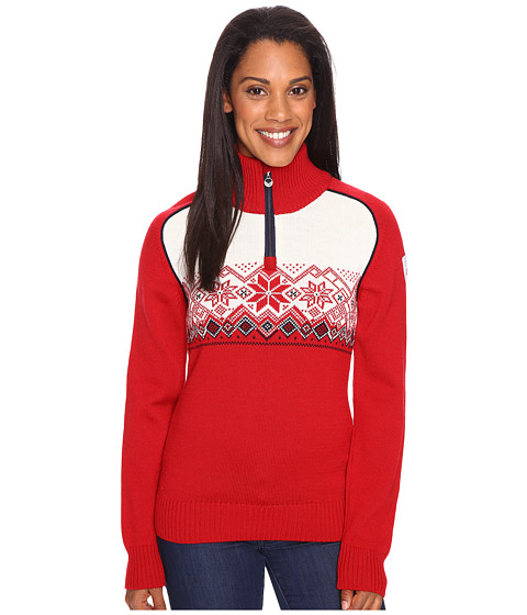 Dale of Norway Frostisen Sweater - Raspberry/Navy