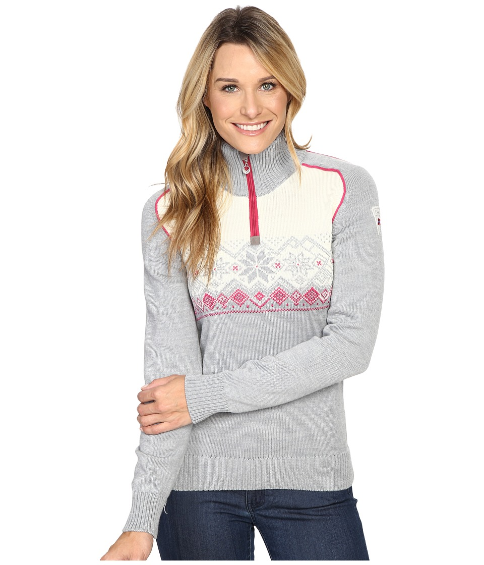 Dale of Norway Frostisen Sweater (Grey Melange/Allium) Women