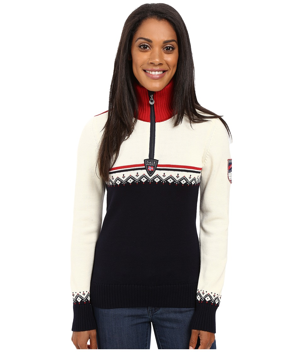 Dale of Norway - Lahti Sweater (Navy/Raspberry) Womens Sweater