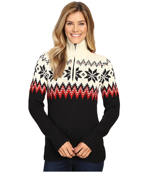Dale of Norway Myking Sweater - Black/Raspberry