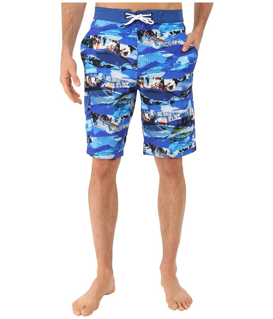 Rainforest Wave Torrent Boardshorts in Stretch Oxford Blue Mens Swimwear