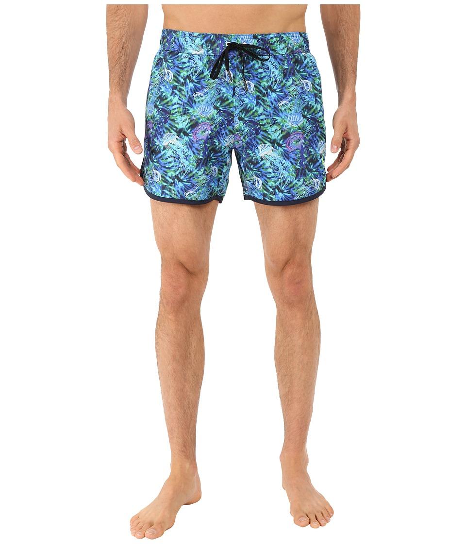 Rainforest Jellyfilsh Garden Trunks Blue Mens Swimwear