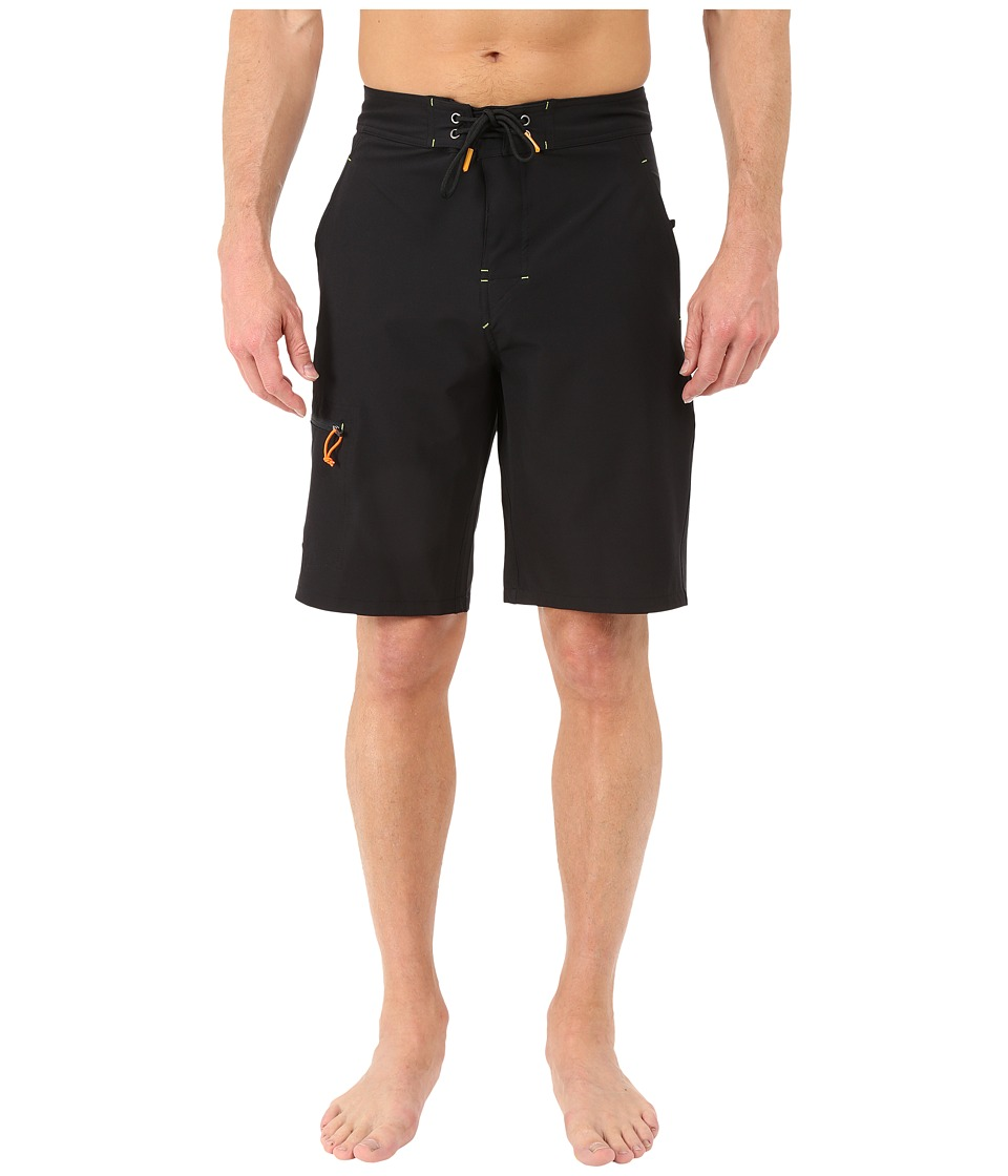 Rainforest Wayne Boardshorts in Stretch Oxford Black Mens Swimwear
