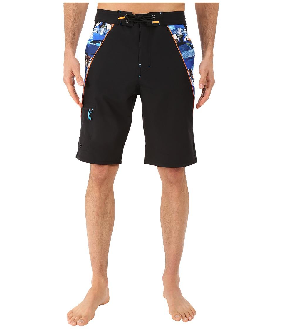 Rainforest Avatar Splice Boardshorts in Stretch Oxford Black Mens Swimwear