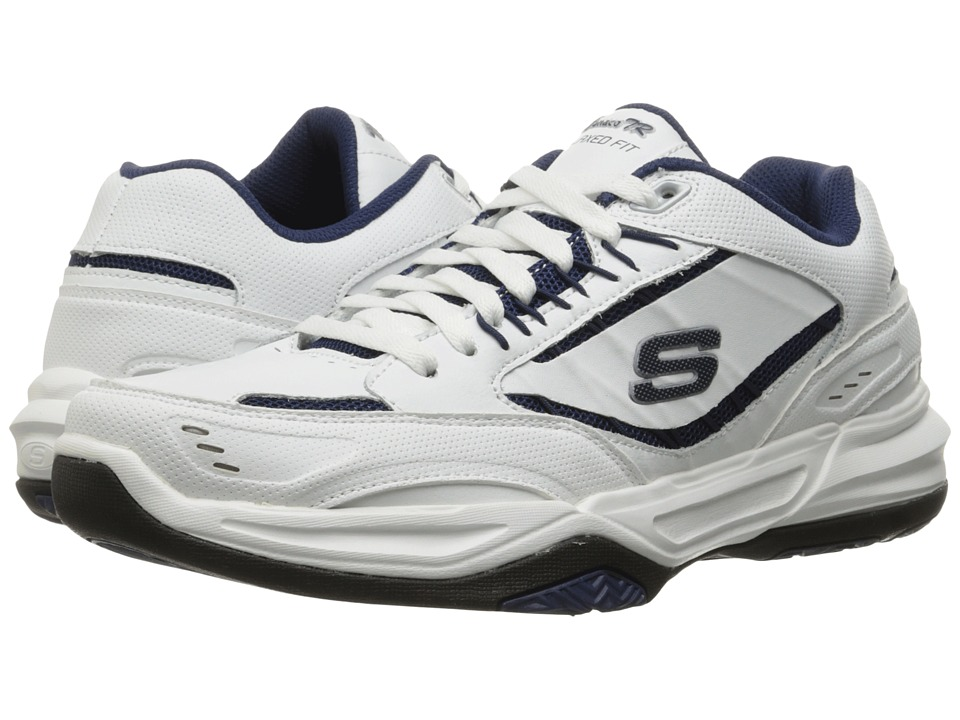 SKECHERS Monaco TR (White/Navy) Men