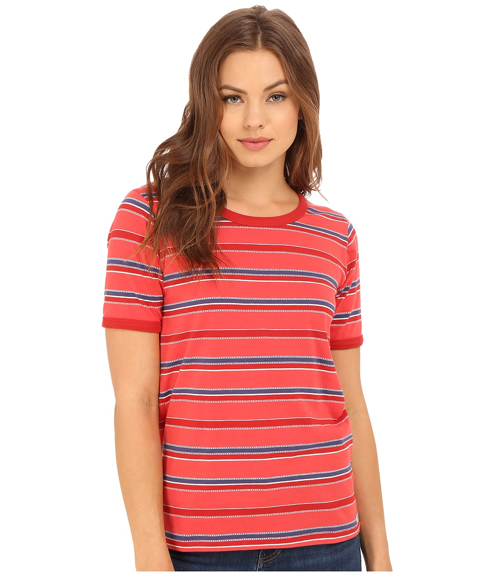 Obey Porterville Crew Poppy Multi Womens Clothing