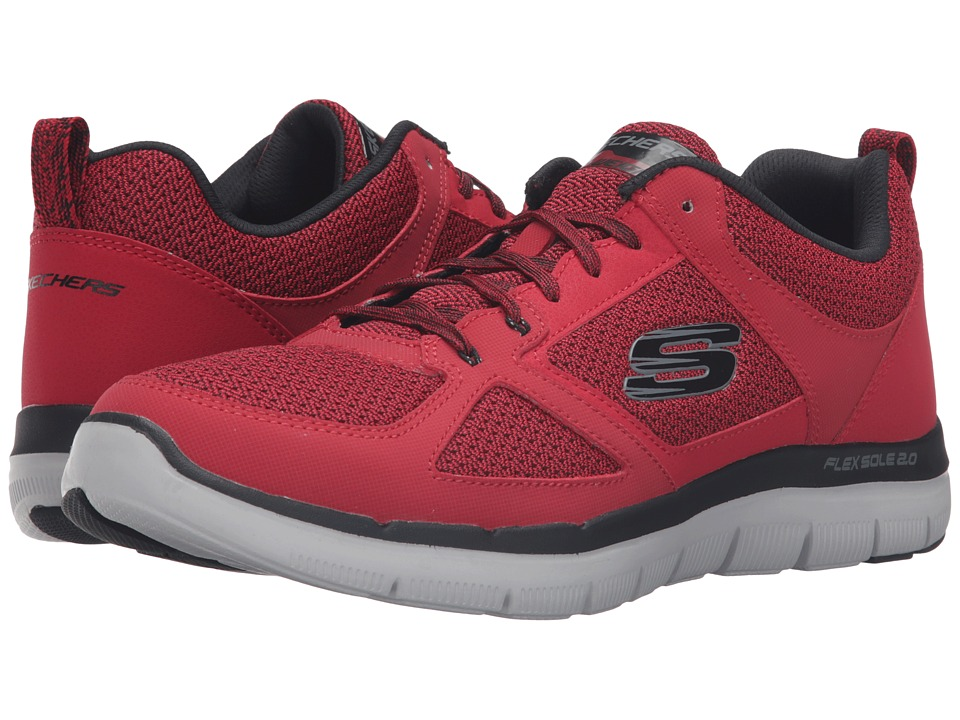 SKECHERS Flex Advantage 2.0 (Red/Black) Men