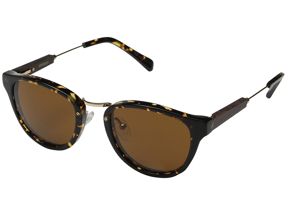 Shwood Ainsworth Dark Speckle/Gold/Brown Fashion Sunglasses