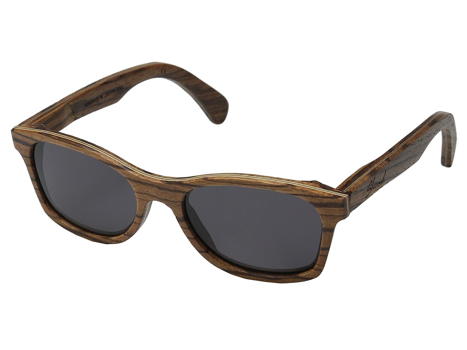 Shwood Cannon Zebrawood/Grey Fashion Sunglasses