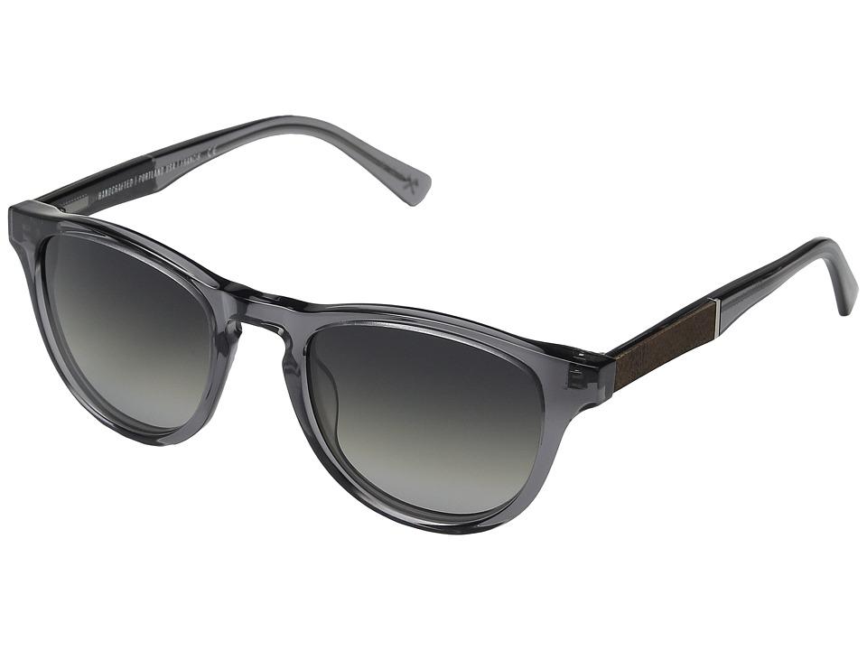 Shwood Francis Smoke/Elm Burl/Grey Fade Polarized Sport Sunglasses