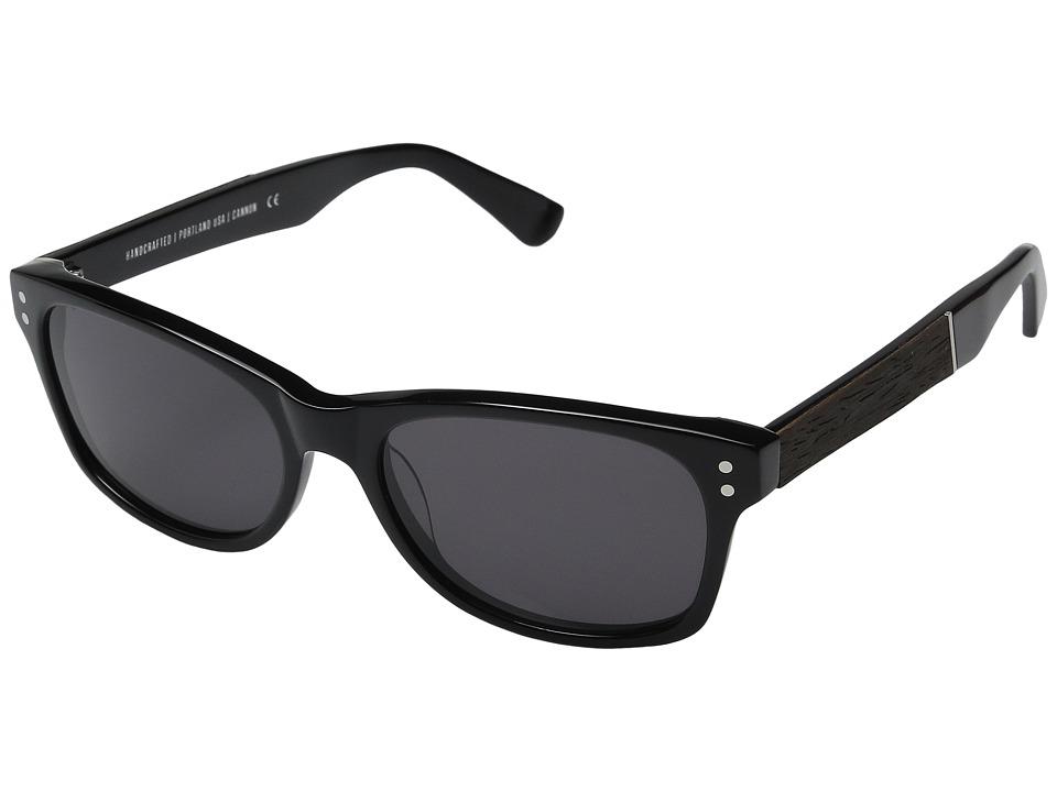 Shwood Cannon Black/Ebony/Grey Fashion Sunglasses