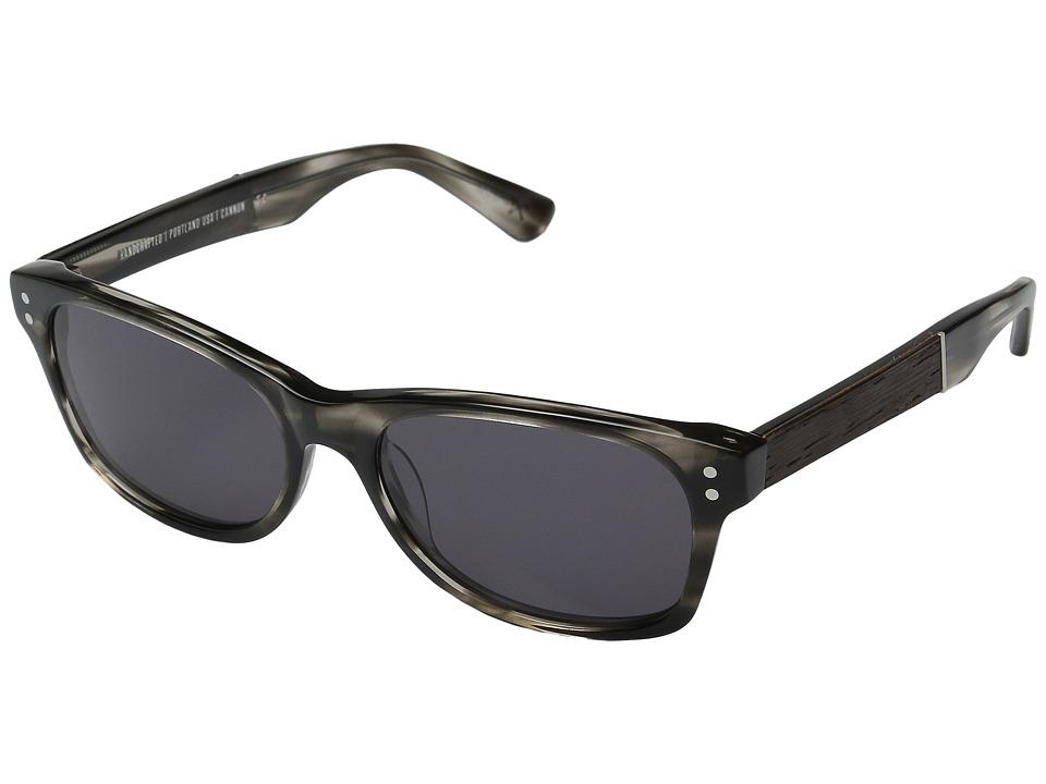 Shwood Cannon Pearl Grey/Ebony/Grey Fashion Sunglasses