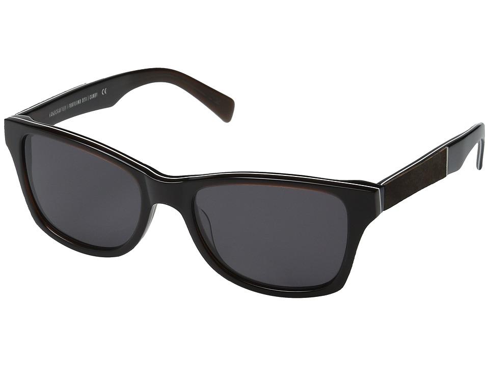 Shwood Canby Espresso/Elm Burl/Grey Sport Sunglasses