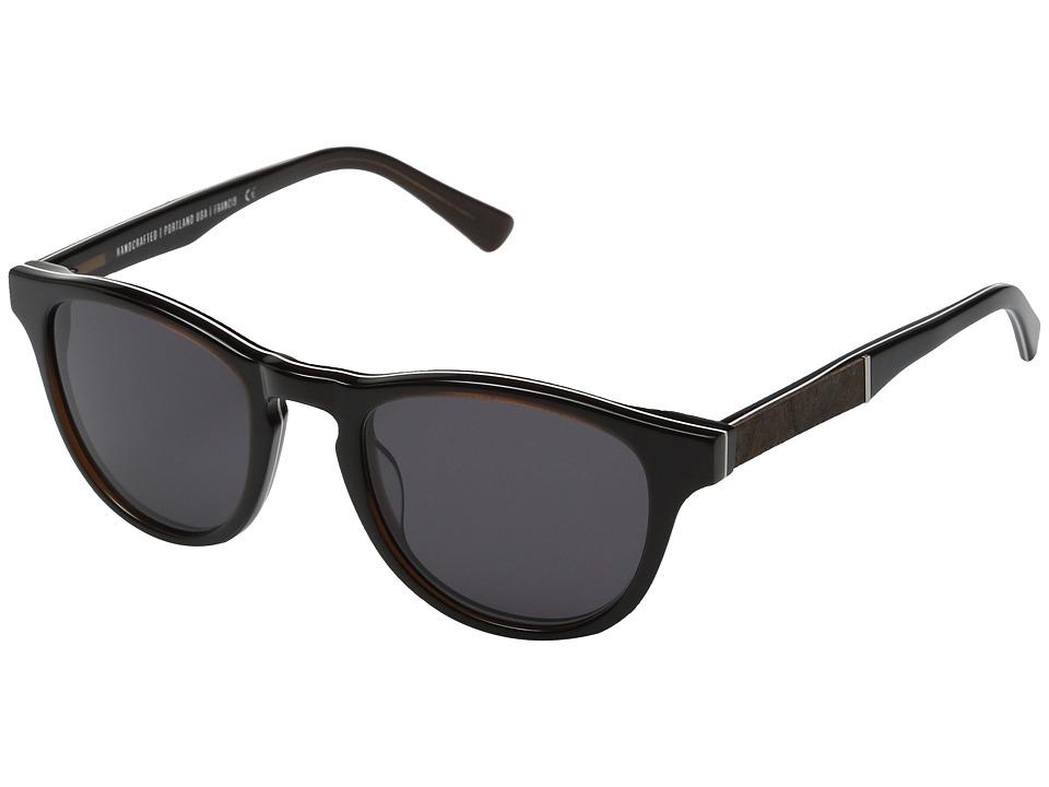Shwood Francis Espresso/Elm Burl/Grey Sport Sunglasses