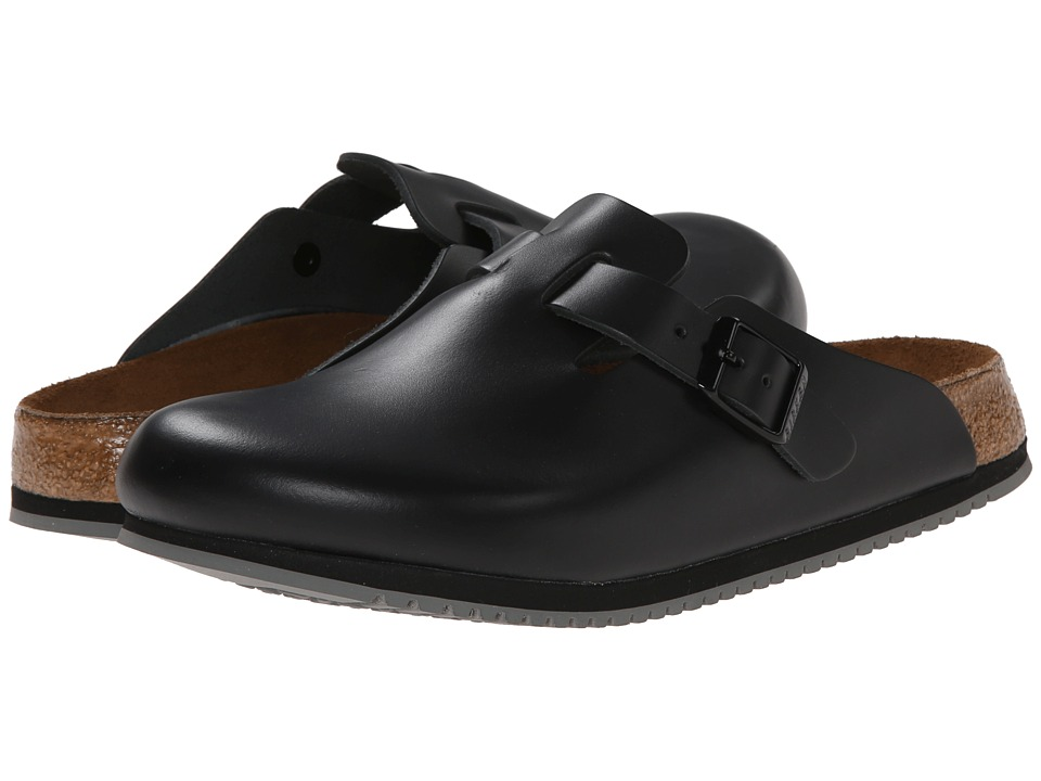 Birkenstock - Boston Super Grip (Black Leather) Shoes