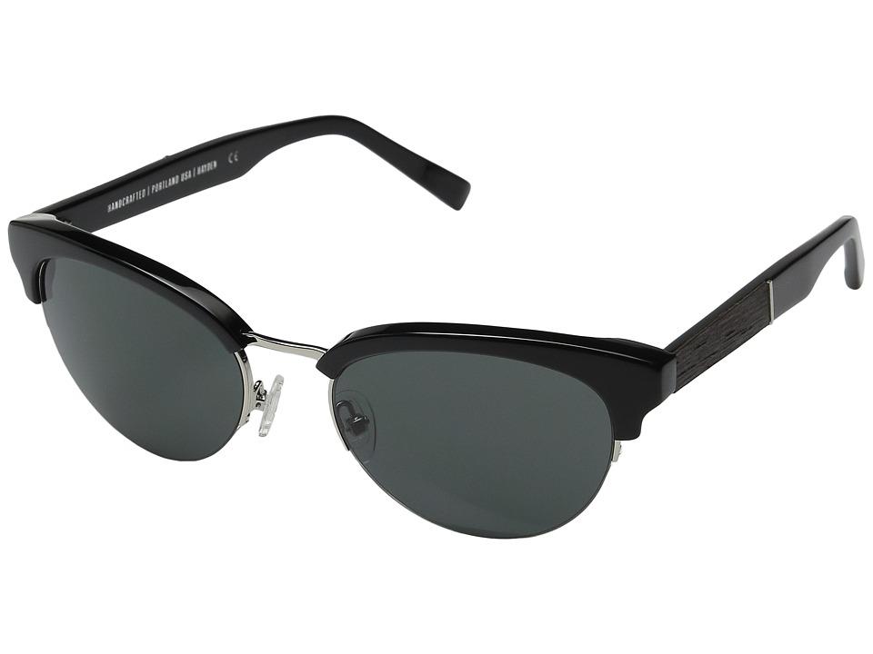 Shwood Hayden Black/Silver/Grey Fashion Sunglasses
