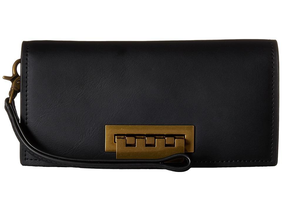 ZAC Zac Posen - Earthette Wallet with Signature Hardware (Black) Wallet Handbags