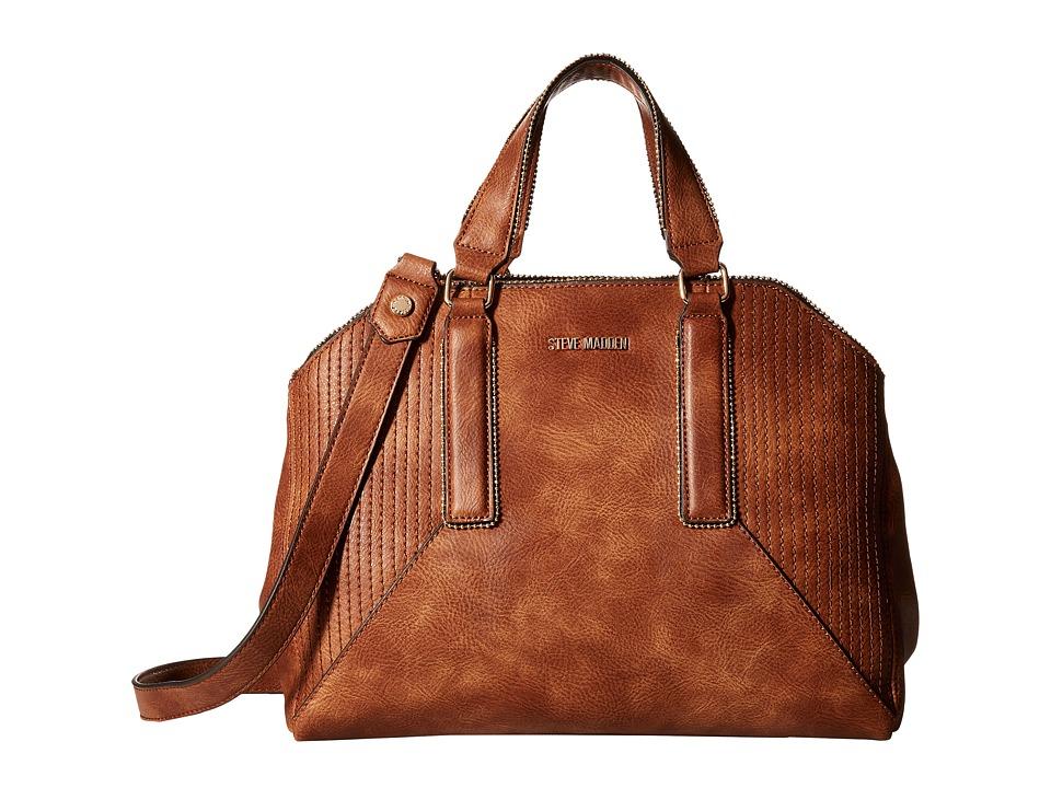 Steve Madden - Bpronto Dome Satchel (Cognac) Satchel Handbags