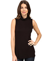 B Collection by Bobeau - Sloan Ribbed Sleeveless Turtleneck Tee