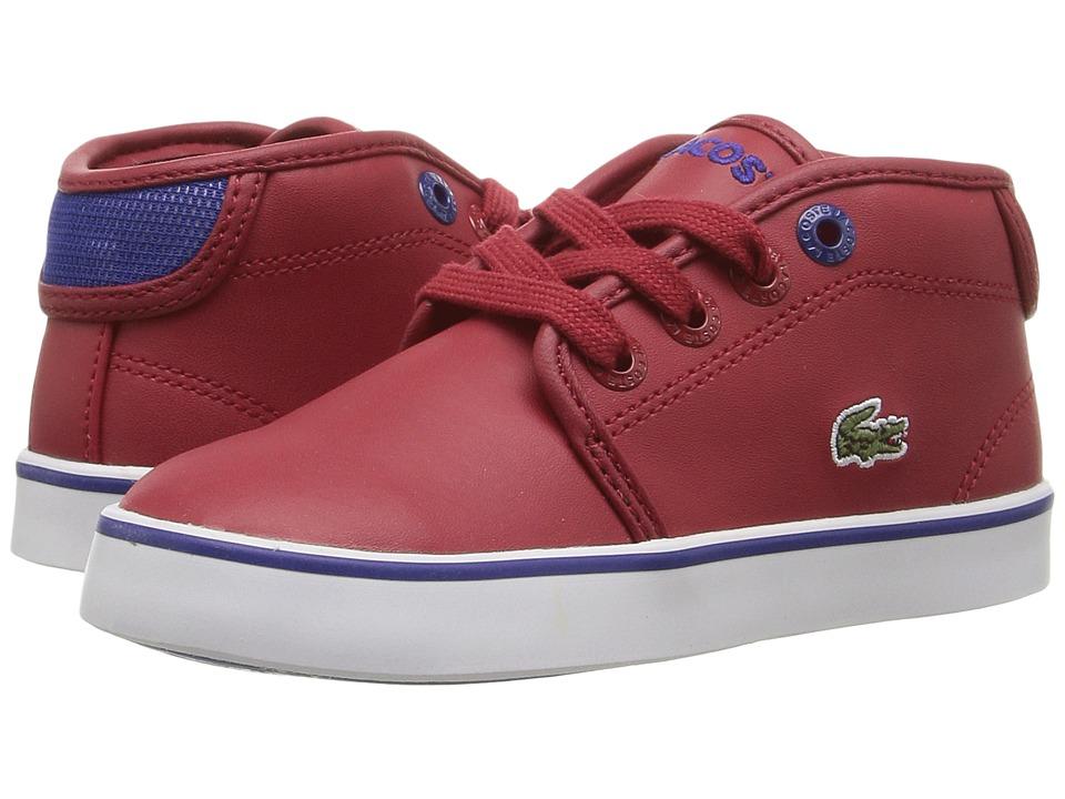 Lacoste Kids Ampthill 316 2 SPI (Toddler/Little Kid) (Dark Red) Kid