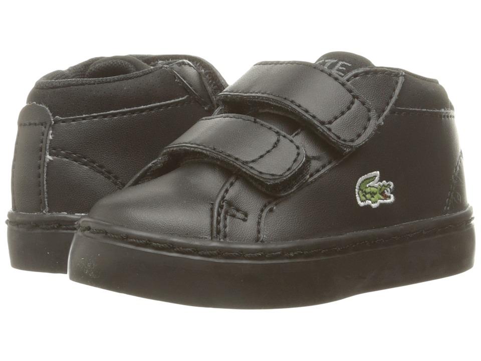 Lacoste Kids Straightset Chukka 316 1 SPI (Toddler/Little Kid) (Black) Kid