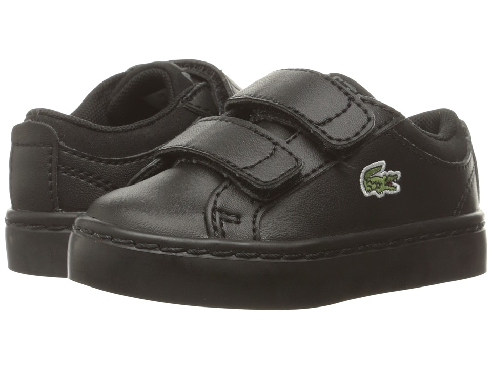 Lacoste Kids - Straightset HL (Toddler/Little Kid) (Black) Kids Shoes