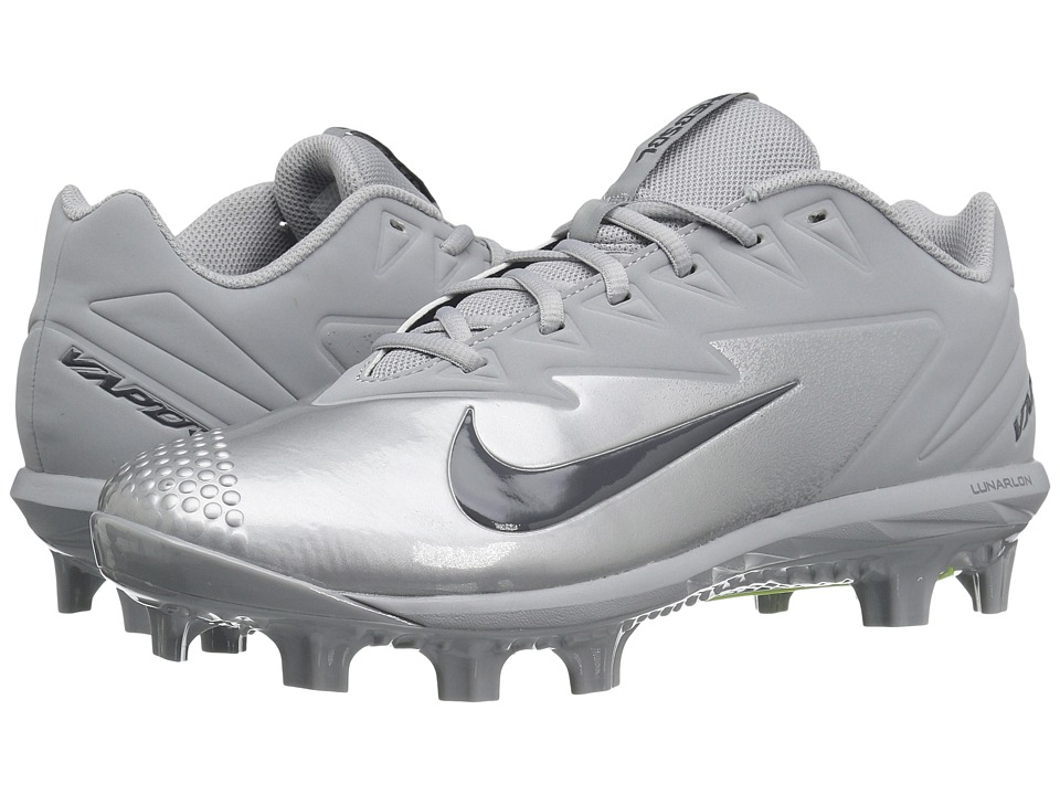 Nike - Vapor Ultrafly Pro MCS (Wolf Grey/Dark Grey/Metallic Silver/White) Mens Cleated Shoes